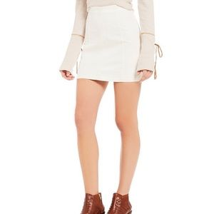 Free People white skirt size 10